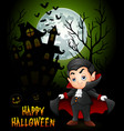 halloween background with l vector image vector image
