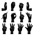 hands gesture collection male and female arms vector image