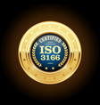 iso 3166 standard medal - country codes vector image vector image
