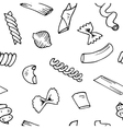 Italian Pasta seamless pattern collection vector image vector image