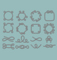 lasso nautical frames rope marine knot tied vector image vector image