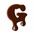 Letter G from latin alphabet made of chocolate vector image