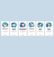 mobile app onboarding screens school and college vector image