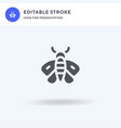 moth icon filled flat sign solid vector image vector image