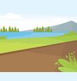 mountain landscape background vector image vector image