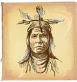 Native American Indian - An hand drawn sketch vector image vector image