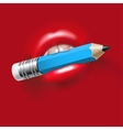 Pencil in Mouth vector image vector image