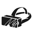 rectangular magnifying glasses icon simple style vector image vector image