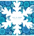 round snowflakes Christmas snowflake vector image vector image