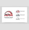 Rpm automotive logo design editable logo design