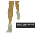 runner legs vector image vector image