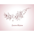 Sakura blossom sketch vector image vector image