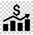 sales chart icon vector image vector image