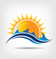 Sea and sun season vector image