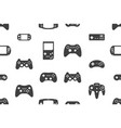 seamless pattern with video games joystick vector image