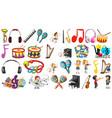 set music instruments vector image