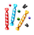 set of colorful candies vector image