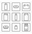 set of contour battery icons on vector image vector image