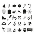 set school black icons vector image