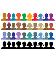 silhouettes crowd vector image