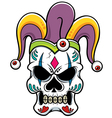 Skull joker vector image vector image