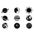 solar planet icons vector image vector image