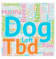 Test Your Canine Acumen text background wordcloud vector image