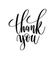 thank you black and white hand lettering vector image vector image