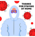 thanks for staying at home pandemic medical vector image