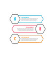 three line style infographic banners vector image vector image