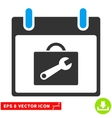 Toolbox Calendar Day Eps Icon vector image vector image