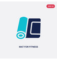two color mat for fitness icon from gym and vector image vector image
