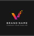 v letter pixel motion logo design vector image vector image