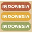 Vintage Indonesia stamp set vector image vector image