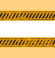 warning style yellow and black stripes background vector image vector image