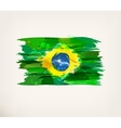 Watercolor hand drawn Brazilian flag vector image vector image