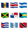 Waving flags of different countries 9 vector image