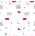 White and red Istanbul tourist seamless pattern vector image vector image