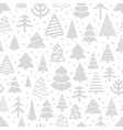 winter forest seamless pattern christmas greeting vector image vector image