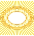 Yellow oval frame vector image vector image