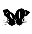 black icon funny cat face vector image