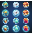 button set of icons for web video games vector image