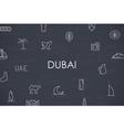 Dubai Thin Line Icons vector image