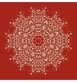mandala on red Art vintage decorative elements vector image