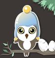 owl in the dark vector image