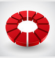 abstract red circle vector image