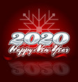 2020 in center on a red background with the vector image vector image