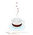 A Cup of Vienna Coffee with Whipped Cream vector image vector image