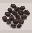 a few coffee beans vector image