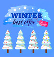 advertising best offer christmas sale vector image vector image
